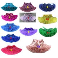 Wholesale 12 colors Various sizes Children s skirt gauze skirt dress Princess TUTU children Mens virgin skirt fold Abstract color