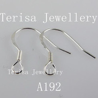 Wholesale sterling silver earring hook earring width mm length mm pairs A192