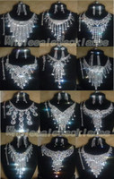 Wholesale Wedding jewelry Czech rhinestone costume necklace amp earring amp bracelet amp ring Sets Bridal Necklace Sets