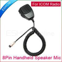 Handheld icom walkie talkie - Handheld Speaker Mic Walkie Talkie for ICOM Radio IC A C C J0018A