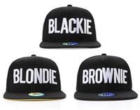 Wide Brim Hat baseball caps hair - Blackie Blondie Brownie Hair Colour Hip Hop Snapback Baseball Cap HipHop Flat Peak Fresh Hat Fashion Popular Hot Product