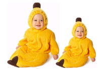 0-4year 70/95 Yellow Banana Clothes, Banana Baby Romper Baby clothes Banana Sleeping Bag Fleabag,baby pajamas