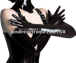 Wholesale Andrew New arrival Sexy Club Wear Sexy Erotic Lingerie PVC Punk Wetlook Long Gloves