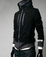 Wholesale Stylish double collar jacket men Double zipper Slim jacket men s Zipper cardigan Coat
