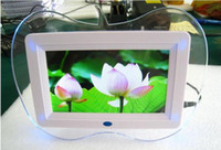 Wholesale 7 inch Multi function digital photo frame with Remote Control amp blue light best xmas gift