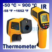 Wholesale Non Contact IR Laser Infrared Digital Thermometer Gun C C LED Back Light Black amp Yellow