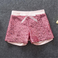 Wholesale Girl Short Pant Fashion Children Shorts Baby Girls Kids Sequins Shorts Bling Bling Hot Pants Bow Princess Shorts Hot Pink