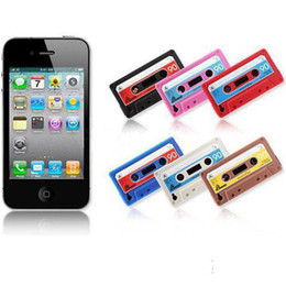 Wholesale Cassette Tape Silicone Cases iTape Deck Silicon Case Cover Skin for iphone S