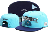 2017 Swag marca Cayler Sons marrón cuero Snapback hip hop deporte tapa sombrero de béisbol para los hombres mujeres huesos snapbacks hueso gorras de alta calidad