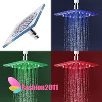Wholesale New arrival colors changing Shower Heads LED lights excellent ABS amp Nickeling materia H4741