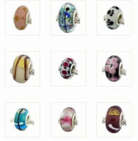 Wholesale beads High quality MURANO Beads charms with silver core