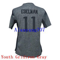 Wholesale Youth Football EDELMAN Gridiron Color Rush Drift Game Noble Salute to Service Embroidered Add Super Bowl LI Bound jersey