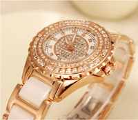 analog mail - Set auger lady selling luxury watch fashion watches Rose gold ceramic table Special offer package mail birthday party gift table