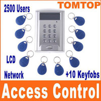Smart Card access display - LCD Display network RFID Door Access Control entrance guard attendance machine Key card H4393