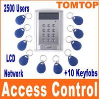 AC/DC 8-25V RFID Access Control - LCD Display network RFID Door Access Control entrance guard attendance machine Key card H4393