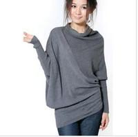 Pullover ladies poncho - FASHION Women s ladies Bat knit cardigan long slim Outerwear lady Poncho Sweater