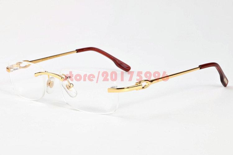 Rimless Eyeglass Frames Problems : 2017 Fashion Rimless Glasses Mens Womens Metal Coating ...