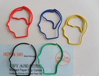 Bookmarks paper clips - Brain Human Head Shaped Paper Clip bookmark creative gift party favor X MM