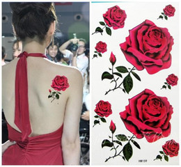 Wholesale Tattoo sticker Waterproof Body lure of sexy female red roses mix