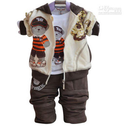 Wholesale Best selling Boys autumn suits Sportswear Three piece long sleeved