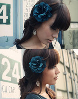 Wholesale 10pcs color flower hair accessories hair clips brooches head flowers Christmas gift