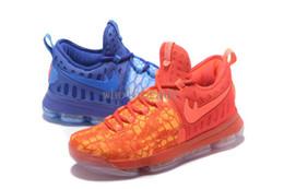 Kd chaussures de vente mens en Ligne-Livraison 2017 NOUVELLES chaussures de sport de Kevin Durant 9s de basket-ball des hommes de PE de glace de KD 9 Fire Ice pour la vente nous Taille 7-12