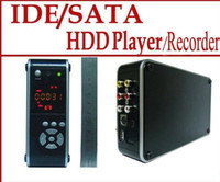 Wholesale 3 quot IDE SATA HDD Media Player Recorder DVR HOST LCD Sample