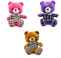 Unisex animal golf head covers - Newest Golf clubs head cover Teddy bear Animal headcover fairways wood headcover protective case Purple Pink Brown colors