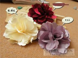 Descuento las cabezas de flor clips Clips de la mujer de la manera 50pcs Multi-color de flores accesorios para el cabello pelo de las muchachas Gerbera broches regalo de Navidad Cabeza Flores