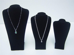 3PCS Black bust Jewelry Necklace Display Stand