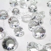 Wholesale Carat mm Crystal White diamond confetti wedding favor table scatter