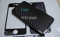 Wholesale 120pcs Carbon fibre sticker for iphone G Full Body skin Black white