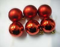 Wholesale 4 cm Diameter Red Balls for Christmas Tree Ornaments Plated Ball Festive Decoration Christmas Balls