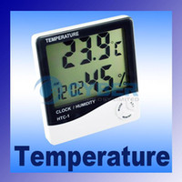 Wholesale LCD Digital Temperature Humidity Meter Hygrometer Alarm Clock Thermometer measuring