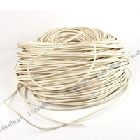 Wholesale 20m White Real Leather Necklace Cord Without Clasps Thickness mm Fit Jewelry Accessories