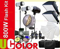 Wholesale Pro Studio Flash Lights800W STUDIO FLASH LIGHT KIT X W W Borsa V V