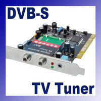 Wholesale USB Hi Speed DVB S Digital Satellite SDTV HDTV TV Receiver Tuner PCI Card IR Remote Controller