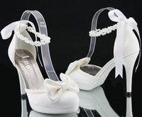 Wholesale white high heel wedding shoes dress shoes ladies shoes