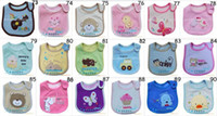 Wholesale Baby bibs babys layers Waterproof Saliva towel babys stereo embroidery bibs QY799