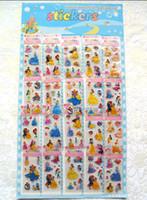 Peel & Stick art cardboard - 1000pcs Cardboard Sheet Snow White Sleeping Beauty kids party decorations Stickers Party Favors
