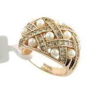 Wholesale SGLOVE ELEGANT SPARKLING ROSE GOLD RING