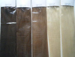 Wholesale STOCK inch black brown blond g g s stick I tip prebonded hair extensions INDIAN REMY