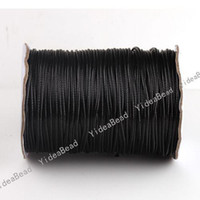 Wholesale 50M Black WAXED NYLON WAX BEADING CORD STRING THREAD Rope Fit Charms Bead Handcraft MM