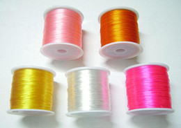 Free Shipping 5Rolls lot Stretch Elastic Beading Jewelry Cords For DIY Craft Jewelry 0.5mm WS1