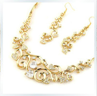 Earrings & Necklace american installations - 2015 Fashion Bridal Accessories Bridal necklace earrings installation Couples Jewelry Gift