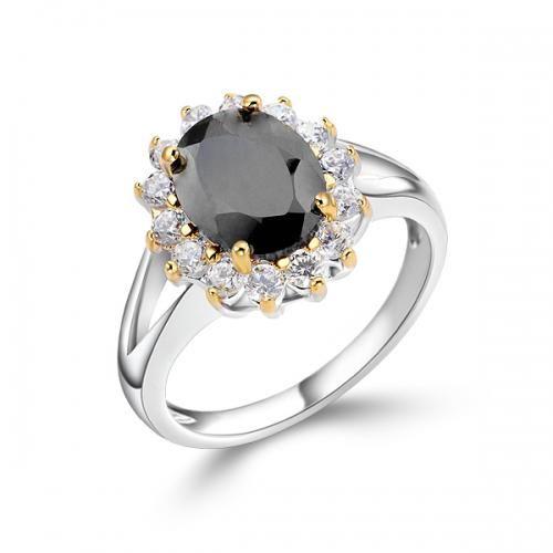 Oval Black Diamond Engagement Rings Ring Oval Black Sapphire