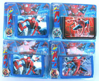 Wholesale of cartoon spiderman wrist watches wallets