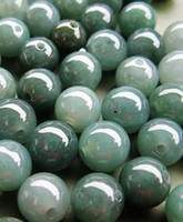 Wholesale Beads MM DIY natural green Burmese jade loose beads oil