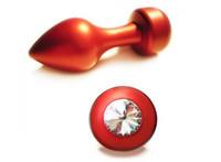 Wholesale Metal Whole Body Red Anal Plug BONDAGE FETISH Middle Size Hot Gay BDSM A028
