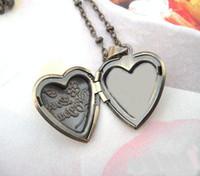 bronze craft - Necklace Pendant Bronze Copper European Heart Shaped Prayer Craft Photo Frame Locket Jewelry